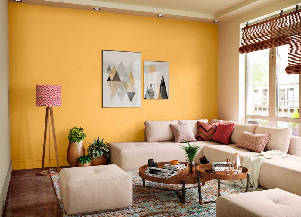 Try Orange Spark House Paint Colour Shades for Walls ...