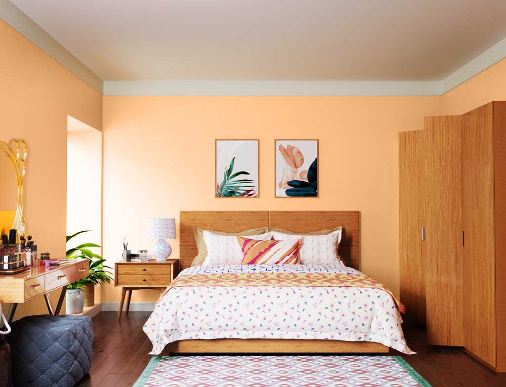 Try Warm Glow House Paint Colour Shades for Walls - Asian ...