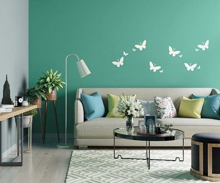 Butterfly Online Wall Stencil Design Patterns Asian Paints