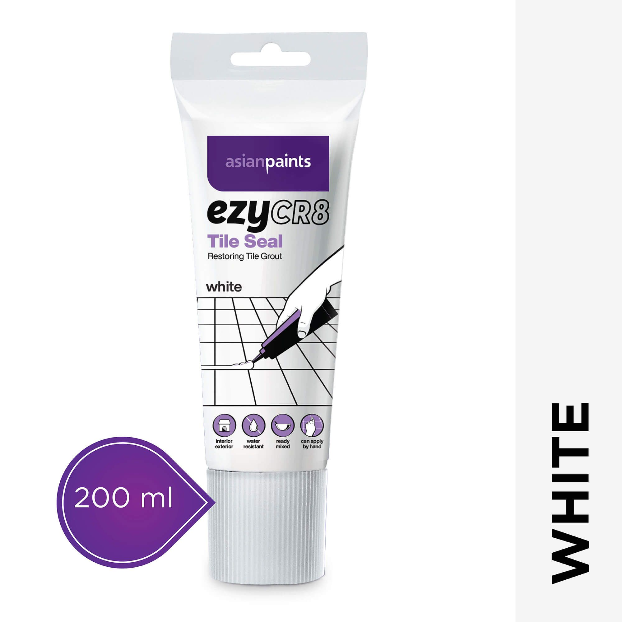 ezyCR8 Tile Seal - White - 200ml
