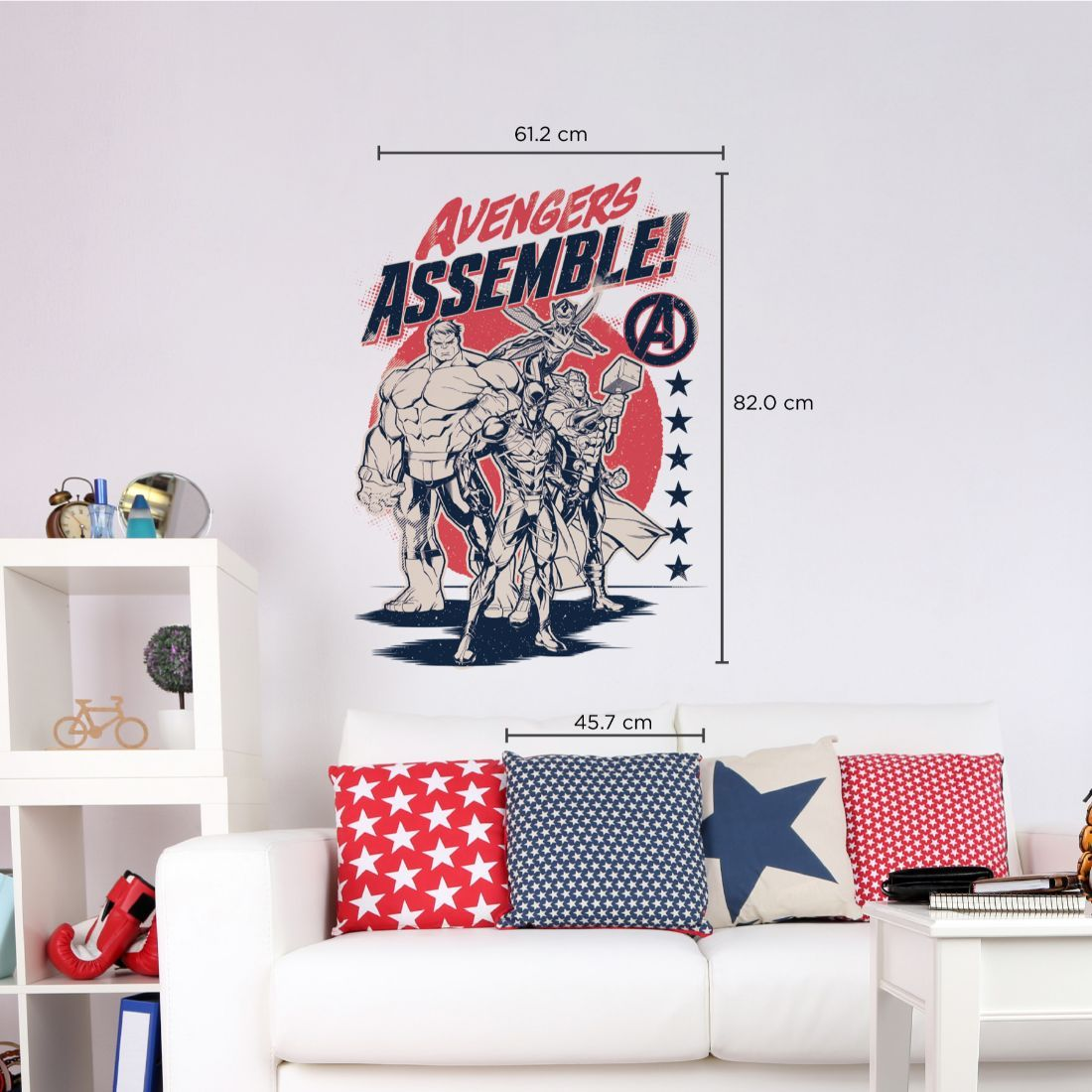 Asian Paints Wall-ons Avengers –  World's Mightiest Superheroes  Original Wall Sticker