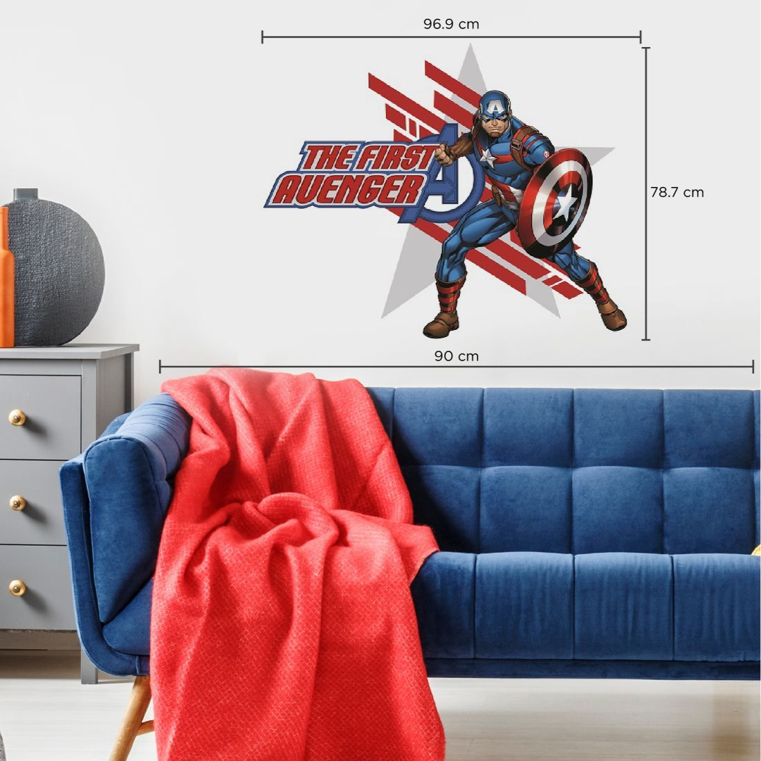 Asian Paints Wall-ons Captain America – The First Avenger Original Wall Sticker