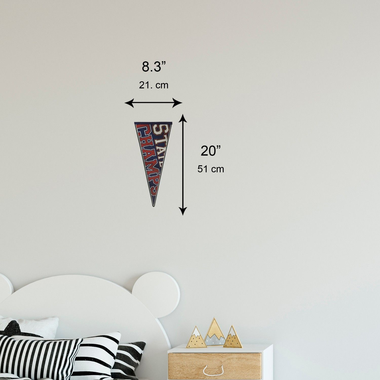Varsity Pennants Wall Sticker