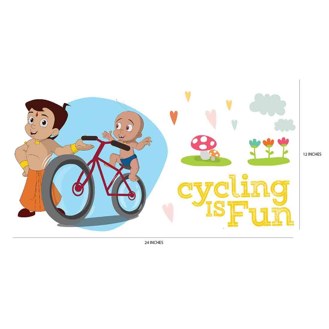 Original Chhota Bheem Cycling is Fun