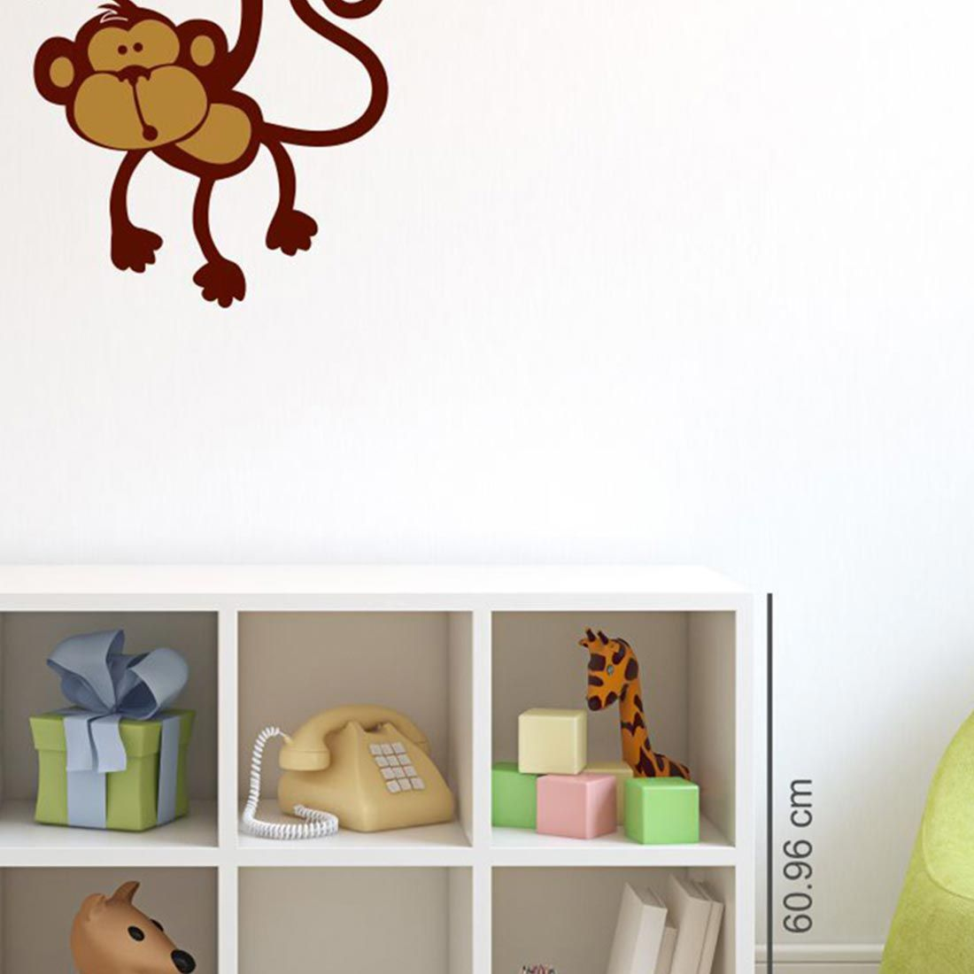 Asian Paints Asian Paints Wall Ons Hanging Monkey Wall Sticker