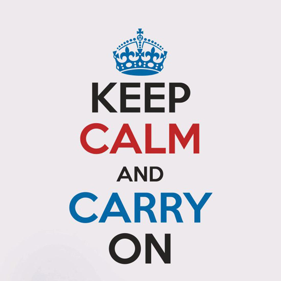 Asian Paints Wall Ons Keep Calm Quotes Carry On Wall Sticker