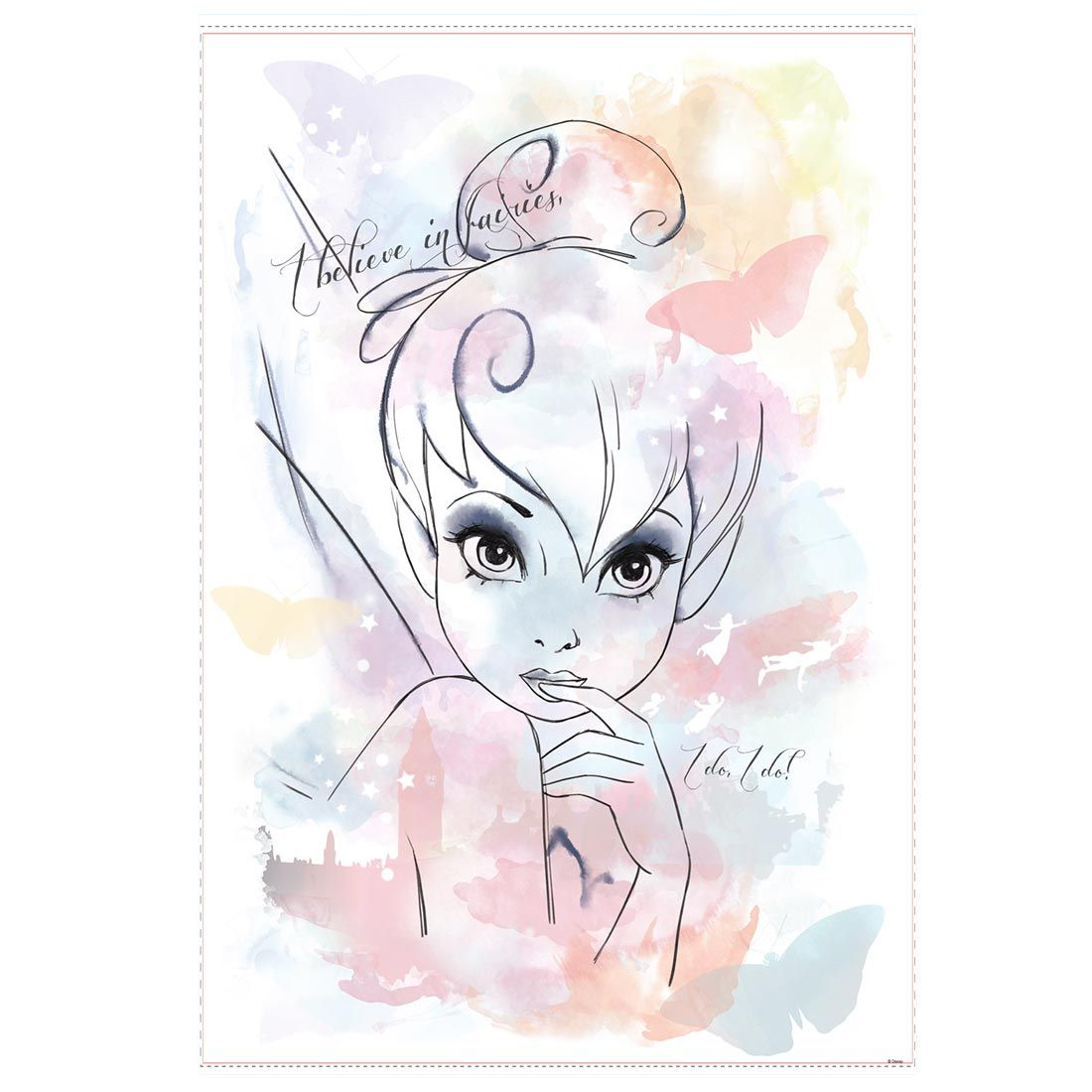 Original Think I Believe in Fairies Watercolor