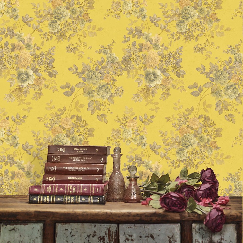 a228a338ef5 Mimosa Designer Wallpaper from Nilaya by Asian Paints